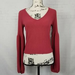 Sage The Label Lita Long Sleeve Top Sweater Size M